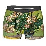 Photo de sous-vêtements pour Hommes,Vincent Oleander Flower, Boxer Taille du caleçon Confort Respirant M