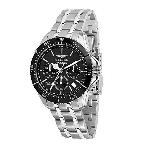SECTOR NO LIMITS Herren Chronograph Quarz Uhr mit Edelstahl Armband R3273962002
