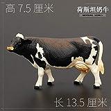 Niños Animal Modelo De Juguete Set Sólido Amarillo Buffalo Leche Bisonte Bull Bull Zzib (Color : Holstein Cows)