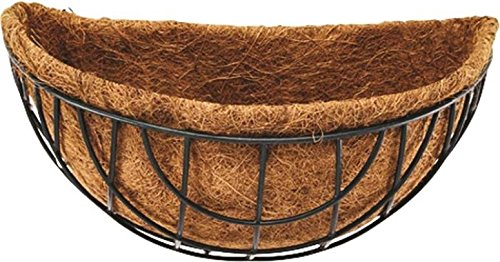 """Rocky Mountain Goods Wall Planter Basket 14"""" - Includes mounting Hooks - Rust Proof - Outdoor or Indoor Use - Extra Thick Coco Liner - Extra Strength Steel for Heavier soils"""