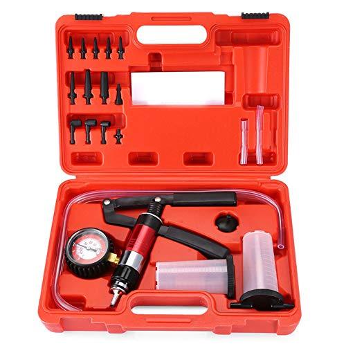 LWQ Multifunktionale Handheld-Vakuum und Druckpumpe Tester, Kit für Bremsentlüftungs Komplett-Set für Auto-Test-Fahrzeugeinstellungen Betrieb