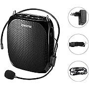 Zoweetek Voz Amplificador 18W Alta Potencia Salida megafonía con micrófonos para Profesores guías …