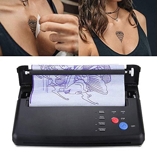 KKmoon Tattoo Kopierer,Tattoo Transfer Machine Drucker Zeichnung Thermal Stencil Maker Kopierer für Tattoo Transfer Paper EU-Stecker