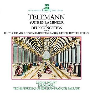 Telemann: Suite en la mineur, Concertos pour flûte à bec, viole de gambe & hautbois baroque