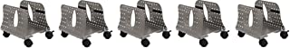 Allsop Metal Art CPU Caddy, Adjustable Width Mobile Computer Stand with 4 Caster Wheels - Pewter (27761) (5-(Pack))
