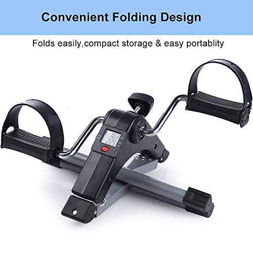 Fitness Cycle - Foot Pedal Exerciser - Foldable Portable Foot, Hand, Arm, Leg Exercise Pedaling...
