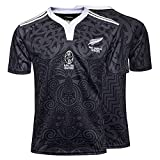 Maillot De Rugby, Polo De Rugby Maori All Blacks 2019 Néo-zélandais, T-Shirt De Rugby édition 100e Anniversaire, Haut De Sport De Football De Supporteur-100thanniversary-XXXL