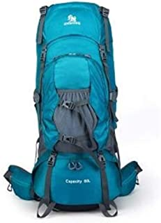 SP-Xhz Outdoor Supplies Tent Equipment Camping Hiking Backpack Men's Backpack Waterproof Large Capacity Travel Bag (Color : Blue, Size : 80l)