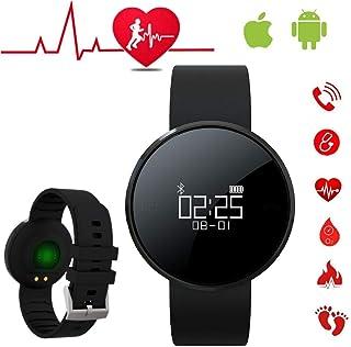 Reloj Inteligente Hombre Pulsera Inteligente Mujer Pulsera Actividad Inteligente Reloj Deportivo con Pulsometro Reloj Smartwatch Hombre para Teléfonos Android e iOS para Hombres y Mujeres y Niños