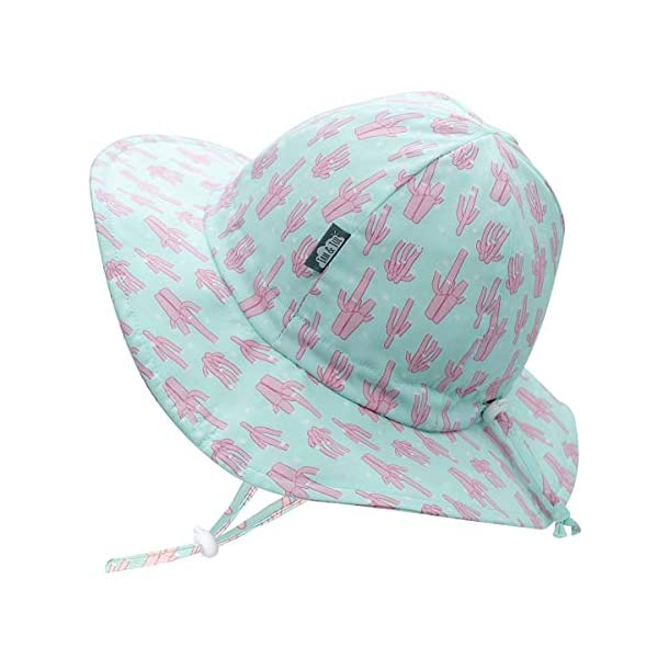 JAN & JUL Toddler Sun Hat, GRO-with-Me Adjustable Straps, 50+UPF Natural Cotton Protection