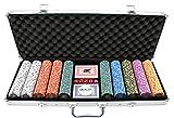 Versa Games 500 Piece Crown Casino 13.5g Clay Poker Chips