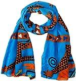 Desigual Foul_Savana Bufanda, Azul (Azul Agua 5029), Talla única (Talla del fabricante: U) para Mujer
