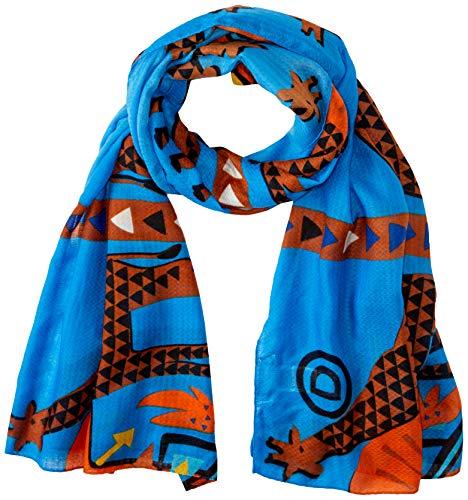 Desigual Damen FOUL_ SAVANA Schal, Blau (Azul Agua 5029), One Size (Herstellergröße: U)