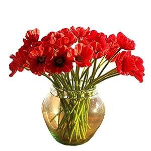 10 piezas de látex, amapolas de maíz decorativas de seda, flores artificiales de tacto real para ramo de boda, día de…