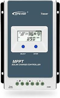 EPEVER MPPT Controlador de Carga Solar Trazador A Serie 10A / 20A / 30A / 40A con 12V / 24V DC Automatically Identifying System Voltage (10 A)
