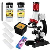 Microscopio, 100X, 400X e 1200X Bambini Giocattolo educativo Bambini Scuola per la casa In...