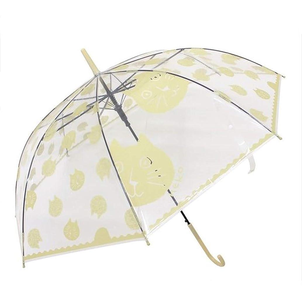かき混ぜる勉強する警戒ねこ グッズ ビニ傘 ビニール傘 約60cm ジャンプ傘