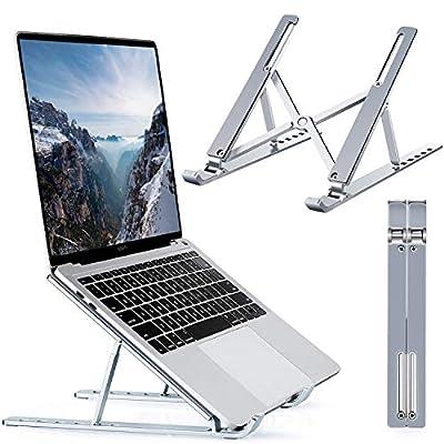 Hotcinfin Laptop Stand,Adjustable Aluminum Lapt...