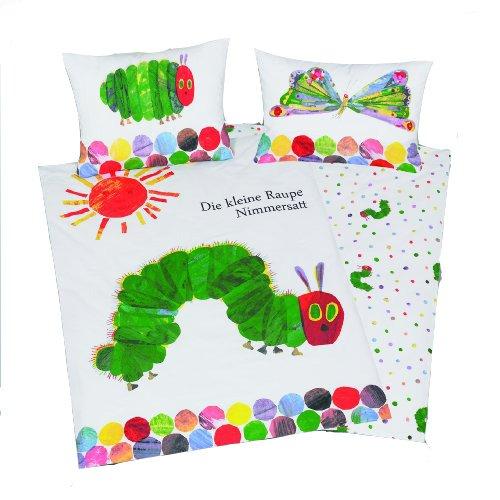 Herding Il Piccolo Bruco Maisazio Set di Biancheria da Letto, Flannel, Multicolore, 100 x 135 cm, 40 x 60 cm