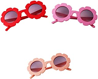SM SunniMix - SM SunniMix Gafas de Sol UV400 con Flores Vintage para Niños Pequeños Y Niños Pequeños