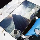 NZTCRFP Alfombrilla De Ratón De Gran Hombre De Negro En El Demonio Oscuro 800X400X3MM Mouse Pad Gaming XXL Para Ratón Y Teclado Impermeable Y Antideslizante Para Gaming Oficina Casa Colegio Escritorio
