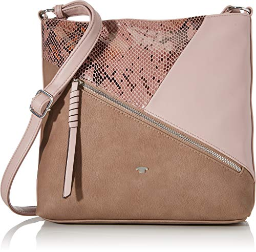 TOM TAILOR Umhängetasche Damen Bergamo, Rose(mixed), M, Handtasche, Tasche Damen
