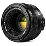YONGNUO 50mm F1,8 Lente YN50MM Objetivo Large Aperture Auto Focus Lens para Canon EOS DSLR Cámara Fotografía