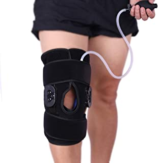 Hot/Cold Therapy & Air Compression Hinged Knee Support Wrap for Alleviating Knee Pain Arthritis Swelling Sports Injuries Rheumatoid Arthritis and Increase Circulation