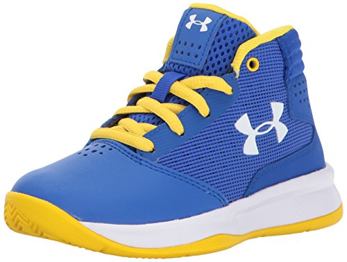 Under Armour Boys' Pre School Jet 2017 Basketball Shoe, Team Royal (400)/White, 11 M US Little Kid