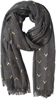 XAZTY Spring and Autumn Gilded Cotton and Linen Scarves, Winter Versatile Warm Silk Scarf Shawl Dual-use Long Section