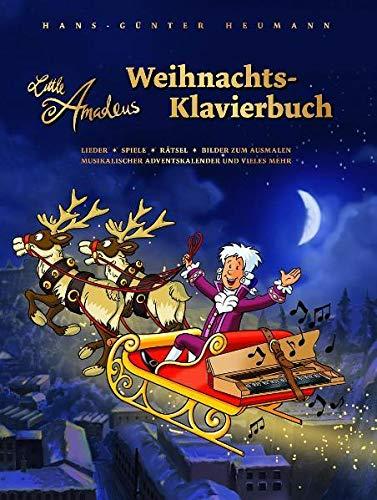 Little Amadeus - Weihnachts-Klavierbuch: Songbook für Klavier: Lieder, Spiele, Rätsel, Bilder zum Ausmalen, musikalischer Adventskalender und vieles mehr