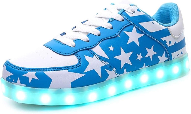 Ghost Dance shoes USB Charging LED Light shoes Men's Ladies Casual shoes (color   H, Size   43EU)