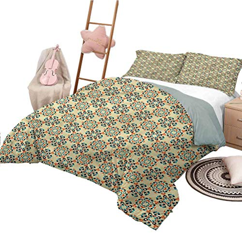 Nomorer Duvet Cover King Size Geometric Modern Quilt Cover Reversible&Decor Tribal Boho Figures