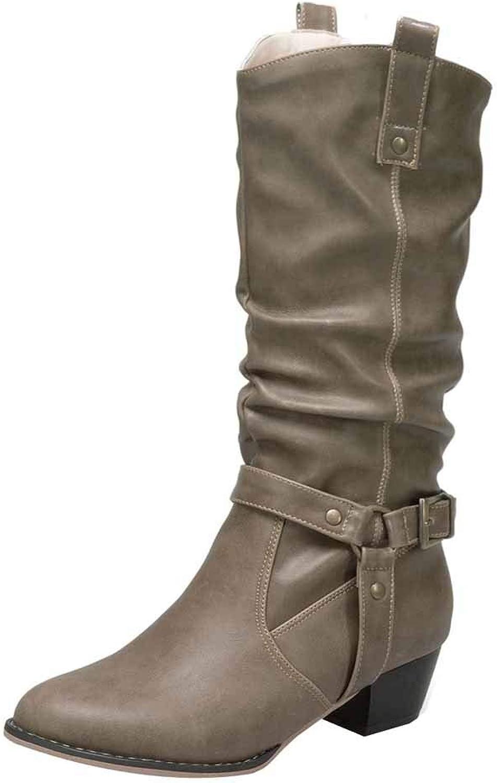 Stiefel Damen Julywe Damen Herbst Winter Sweet Stiefel Stilvolle Flache Flock Schuhe Schnee Stiefel Mode  | Modernes Design  | Haltbar  | Export