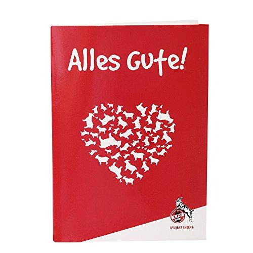 1. FC Köln GRUßKARTE GEBURTSTAGSKARTE GLÜCKWUNSCHKARTE Alles Gute