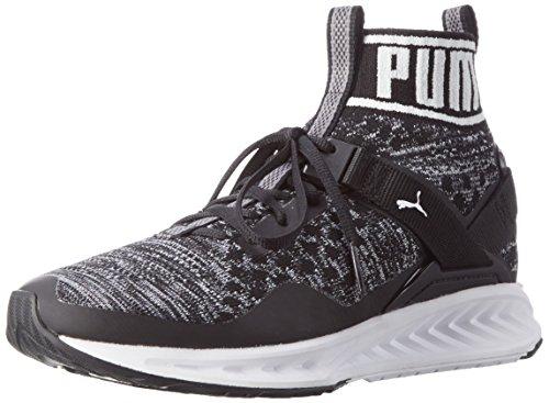 PUMA Ignite Evoknit, Scarpe Sportive Outdoor Donna, Nero (Black-Quiet Shade-White), 39 EU