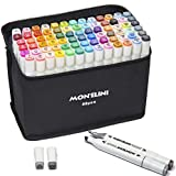 Alcohol Markers Set with Blender – 80 Colors Permanent Markers for Sketching and Drawing – Art Markers for Kids – Dual Tip Markers for Adult Coloring Books – Good Gift Idea for Beginner and Professional Arts