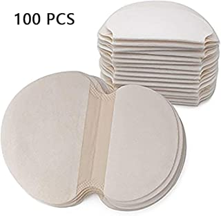 100 piezas Desechables almohadillas para el sudor de axilas protección contra el sudor y desodorante manchas, Sudor Almohadillas puro del color es suave absorbente