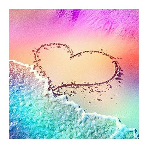 eubell DIY 5D Diamond Painting Beach by Number Kits, Painting Cross Stitch Full Drill Crystal Rhinestone Embroidery Pictures Arts Craft for Home WAll Room Decor Gift (11.8inch x 11.8inch)