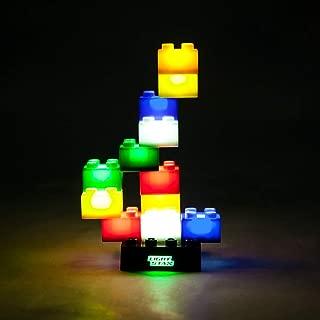 Light Stax Starter 12 Piece LED Light-up Construction Toy Bricks, Black/Multicolor