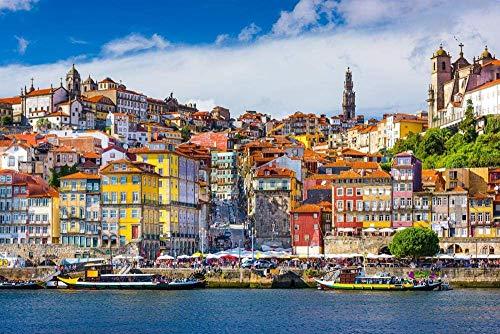 KsimYa Puzzle Personalizzato Puzzle da 1000 Pezzi - Scenario di Lisbona in Portogallo Legno di Grandi Dimensioni Ogni Pezzo è Unico Sviluppo intellettuale