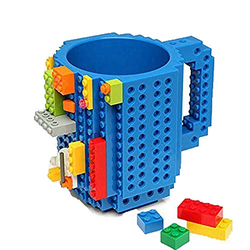 Kreative DIY umweltfreundliche Bausteine Kunststoff Kaffeetasse Brick-Becher Blue