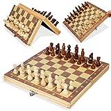 Funmix Juego de ajedrez magnético Plegable,Juego de ajedrez 2 en 1 Tablero magnético con Juguetes educativos Plegables portátiles,Juegos al Aire Libre o Regalos,29 x 29 cm