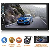 Double Din Car Stereo,Upgraded Version 7 Inch Touch Screen Car MP5 Player Support Backup Rear View Camera FM Radio Car...