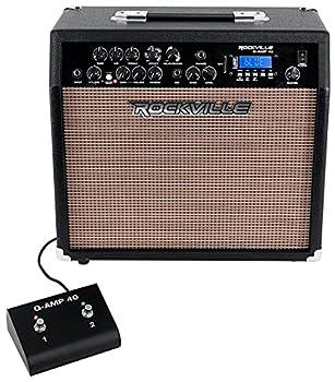Rockville G-AMP 40 Guitar Amplifier 10  Speaker/Bluetooth/Mic in/USB/Footswitch