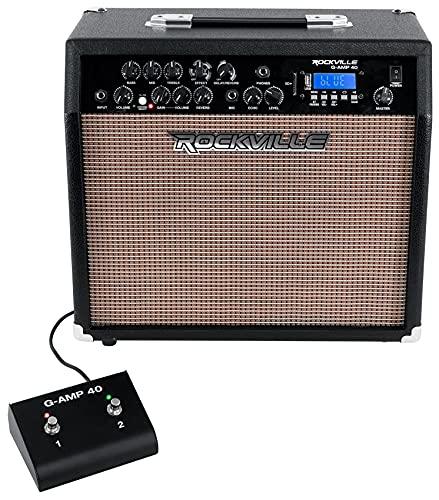 "Rockville G-AMP 40 Guitar Amplifier 10"" Speaker/Bluetooth/Mic in/USB/Footswitch"