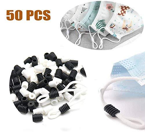 50 PCS Banpa - Cierre de cordón elástico de ajuste redondo