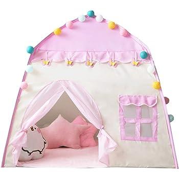Yihiro 子供テント キッズテントプレゼント子供用テント女の子テント 玩具収納 秘密基地 知育玩具 収納バッグ付きお誕生日 出産祝いのプレゼント