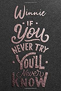 Winnie If You Never Try You Never Know: Motivational To Do Checklist Notebook / Journal Gifts for Daily Task Planner & Tim...