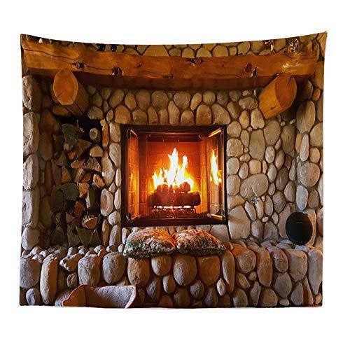 N / A Estantería mística Chimenea de Piedra Tapiz de Pared Biblioteca Creativa Brujería Tapiz de Pared Mandala Dormitorio Indio Decoración de Dormitorio R75 150x100cm